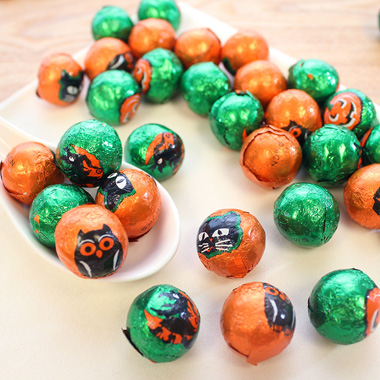 Foiled Chocolate Halloween Balls