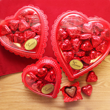 Clear Heart with Red Foil Hearts